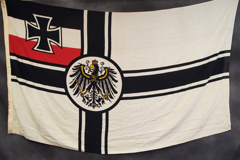Original German WWI Naval Battle Flag 1.5m x 2.5m- Marked SMS MARS