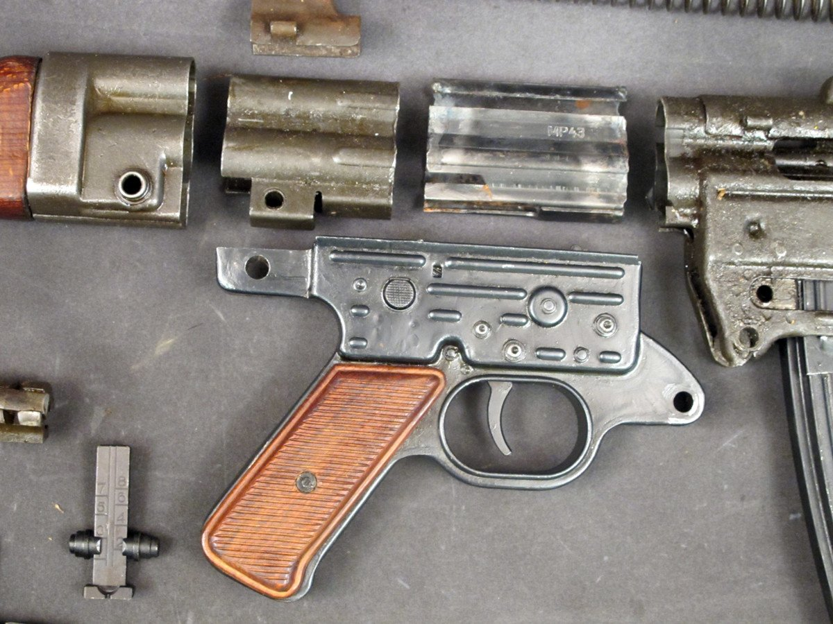 German WWII MP 43 SMG Parts Set with Demilled Receiver