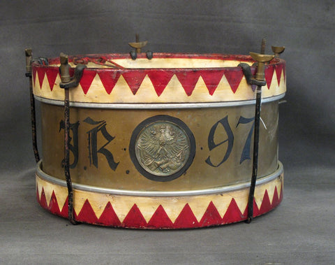 German Prussian WWI Era Restored Military Infantry Drum Original Items