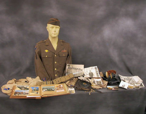 U.S. WWII Serviceman Uniform & Personal Wartime Photo Collection Original Items