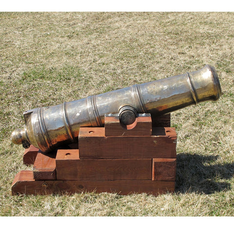 Original Massive 18th Century Bronze 12lb Napoleon Cannon on Fortress Mount Original Items