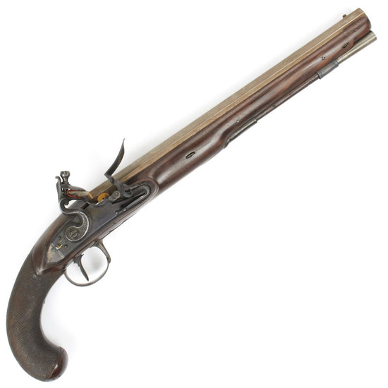Original English Flintlock Dueling Pistol by H.W. Mortimer Circa 1810 Original Items