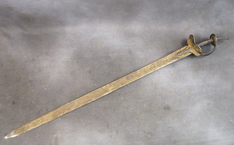 Original Ancient Indian 17th Century Khanda Battle Sword