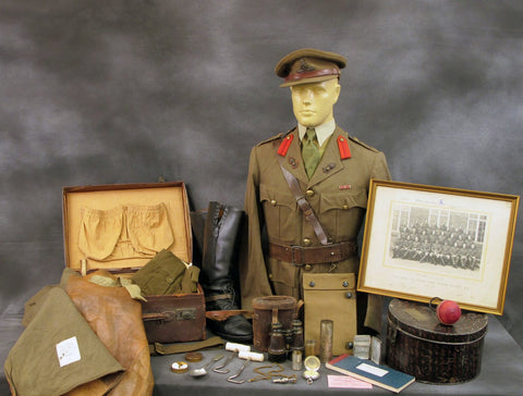 British WWII Royal Artillery Named Officer Uniform and Personal Possessions Set Original Items