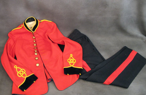 Original British WWI Royal Engineers Red Tunic and Coverall Set- Unissued