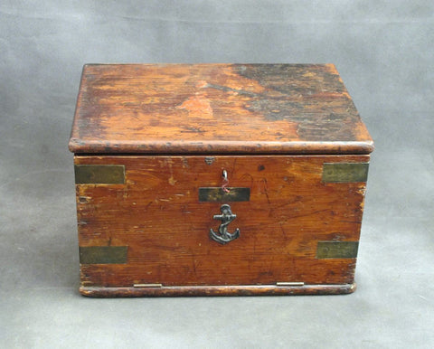 Original Napoleonic-Era British Naval Orders Chest from HMS Eagle