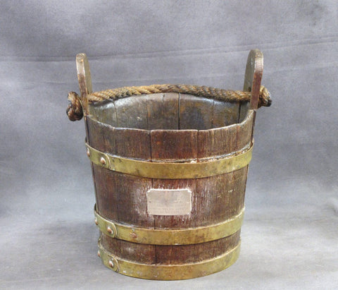 Original British Naval Grog Bucket from H.M.S. Majestic Dated 1798