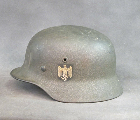 Original German M40 Heer Single Decal Helmet- Q66