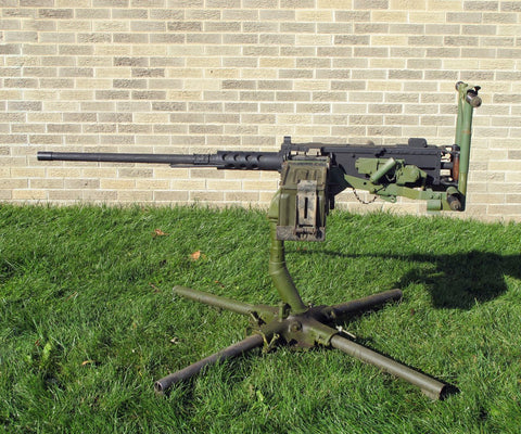 U.S. M2 Browning .50 Caliber Steel Display Machine Gun with Original M63 Mount