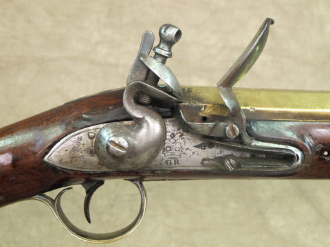 Original British Flintlock Brass Barrel Blunderbuss Marked Tower & Chatham Dock No.4 Original Items