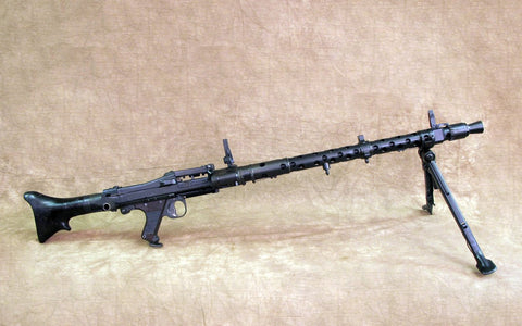 Original WWII German MG 34 Display Machine Gun- dot 1943 & Partially Matched Serial Numbers Original Items
