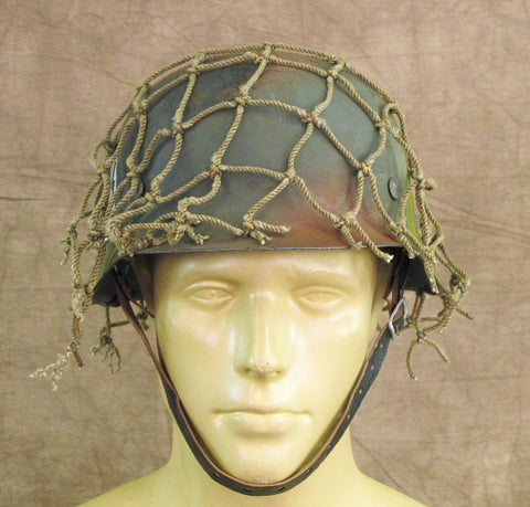 Original Refurbished German M42 SS Single Decal Helmet- Stamped CKL 64 Original Items