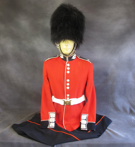 Original British Scots Guard Uniform Set Complete with Bearskin Helmet