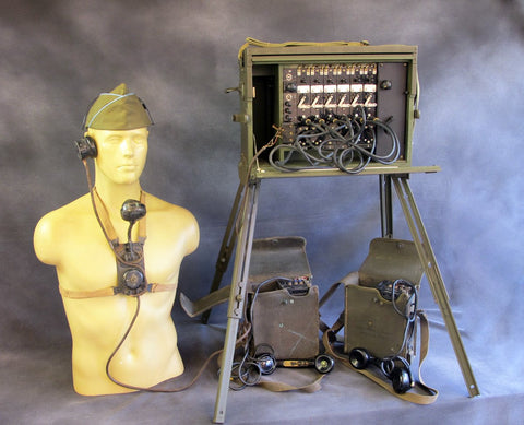 Original WWII US Army Signal Corps BD-71 Field Telephone Switchboard Set Original Items