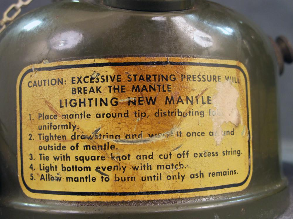 Original U S  Korean and Vietnam War Coleman Gasoline Lantern Set