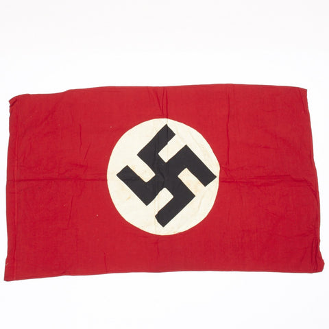 "Original German WWII NSDAP Parade Flag- 40"" x 24"""