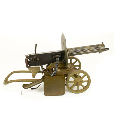 Original Russian Maxim M1910 Fluted Display Machine Gun, Sokolov Mount and Accessories- Dated 1938