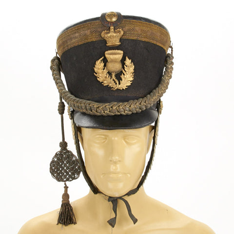 Original British 1816 Regency Period Officer Shako of the Royal Scot's Fusiliers Original Items