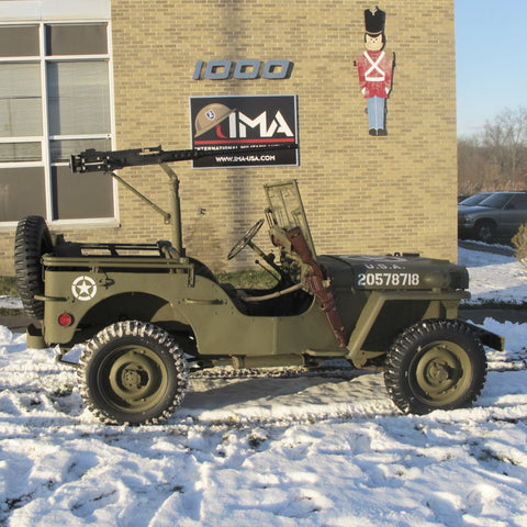 Original U S  WWII 1943 Ford GPW Jeep with M2 Browning  50 Caliber and  Accessories- Fully Restored