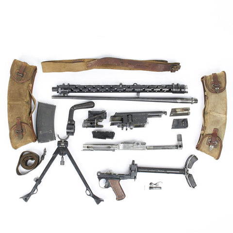 Original German WWII MG 13 Display Light Machine Gun Parts Set with Magazines Original Items