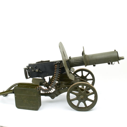 Original Russian Maxim M1910 Fluted Display Machine Gun with Sokolov Mount, Trench Armor and Accessories