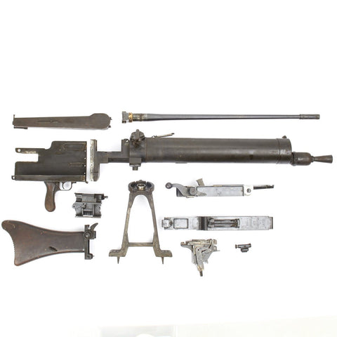 Original German WWI Maxim MG 08/15 Parts Set- All Matching Serial Numbers, Marked Erfurt 1918 Original Items