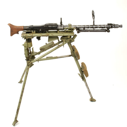 Original German WWII MG 34 Display Machine Gun with WW2 Lafette Mount - Both Dated 1943 Original Items