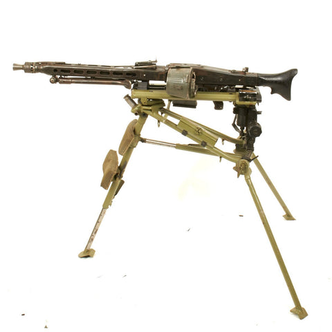 Original German WWII MG 42 Display Machine Gun with Lafette Mount- Marked ar