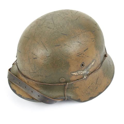 Original German WWII Refurbished M40 III Flakkorps Helmet - Stamped EF64