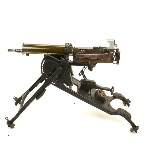 Original German WWI Maxim MG 08 Display Gun with Optical Sight on Sled Mount - Dated 1917