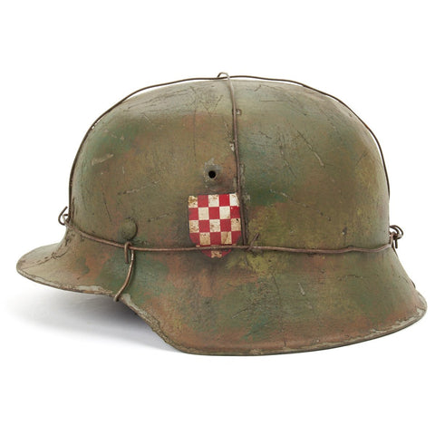 "Original German WWII Refurbished M42 13th SS ""Handschar""  (1st Croatian Division) - Stamped hkp66"