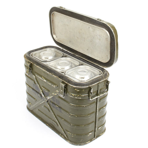 Original U.S. Vietnam War Military Aluminum Mermite Hot Cold Insulated Food Container- 1960s Dates