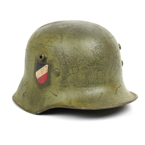 Original German WWI M16 Refurbished WW2 Transitional Luftwaffe Helmet - Shell Stamped TJ68