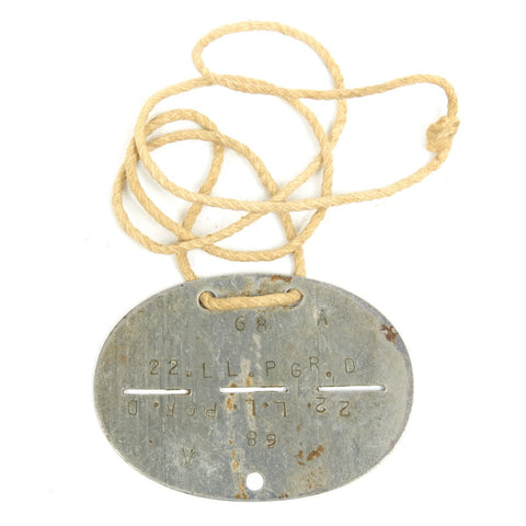 Original German WWII Identity Dog Tag Disc - Erkennungsmarke