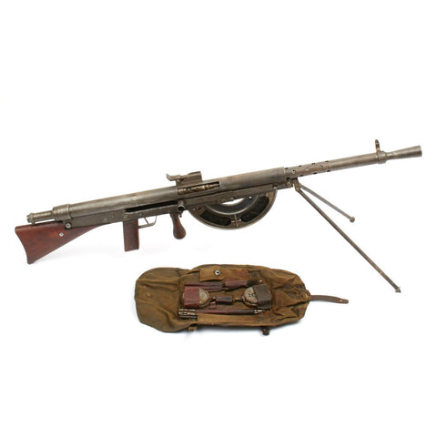 Original French WWI Fusil-Mitrailleur Modele 1915 CSRG Chauchat Display Light Machine Gun with Acessories