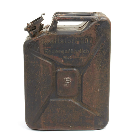 Original German WWII Wehrmacht 20 Liters Petrol Jerry Can - Dated 1942