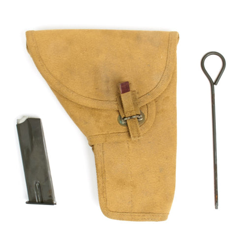 Original Canadian WWII P35 Inglis Browning High Power Holster with Magazine - Dated 1945