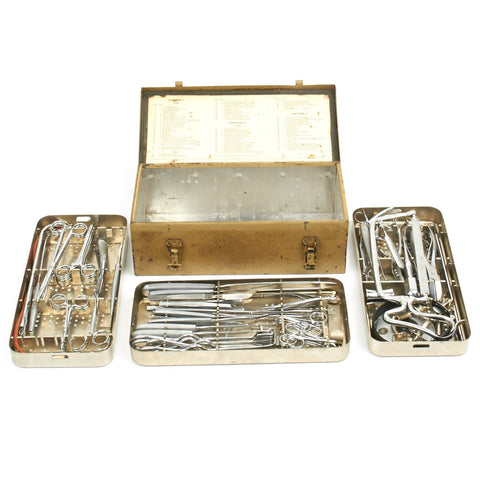Original German WWII Small Field Medical Surgical Tool Set by C. Stiefenhofer of Munich Original Items
