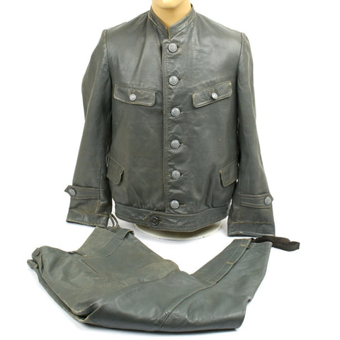 Original German Kriegsmarine U-Boat Leather Jacket and Trouser Set - Dated 1942