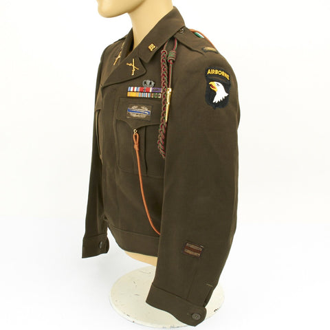 Original U.S. WWII 101st Airborne Division and 5th Army Lieutenant Ike Jacket Original Items