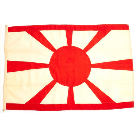 Original Imperial Japanese WWII Navy Rising Sun Hand Stitched Flag- Bring Back of Tokyo Bay Occupation Force (TF-31) Original Items