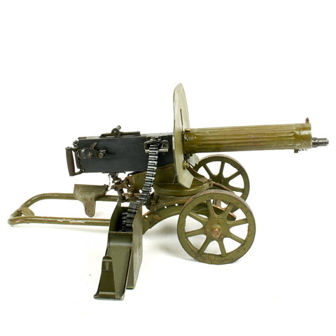 Original Russian Maxim M1910 Fluted Display Machine Gun, Sokolov Mount and Accessories- Dated 1943