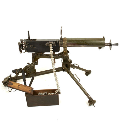 Original German WWI Maxim MG 08 Display Gun with Tripod and accessories - Dated 1918, Marked Berlin Original Items