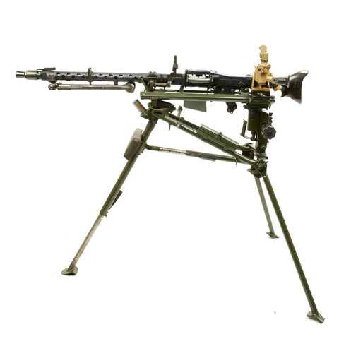 Original German WWII MG 34 Display Machine Gun with MGZ40 Optical Sight and WW2 Lafette Mount- Museum Quality