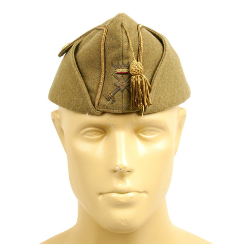 Original Spanish Civil War Nationalist Officer Side Cap