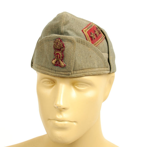 Original WWII Italian General's Bustina Field Cap - 77th Infantry Original Items