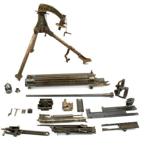 Original Nepalese Contract Vickers Gun Parts Set with Colt Tripod - Serial Number 10