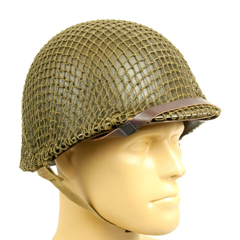 Original WWII U.S. 1942 M1 McCord Front Seam Helmet with Westinghouse Liner