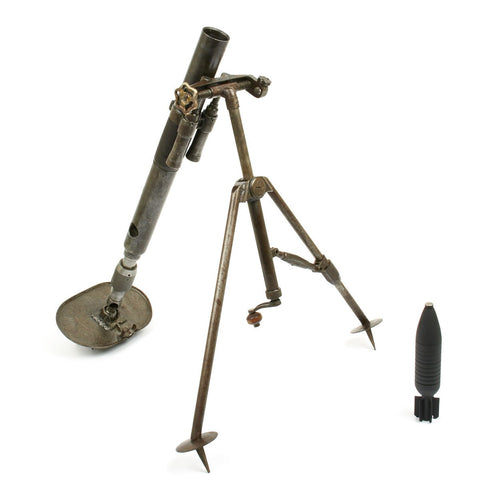 Original Russian WWII RM-38 Soviet 50 mm Light Infantry Display Mortar - Dated 1939 Original Items