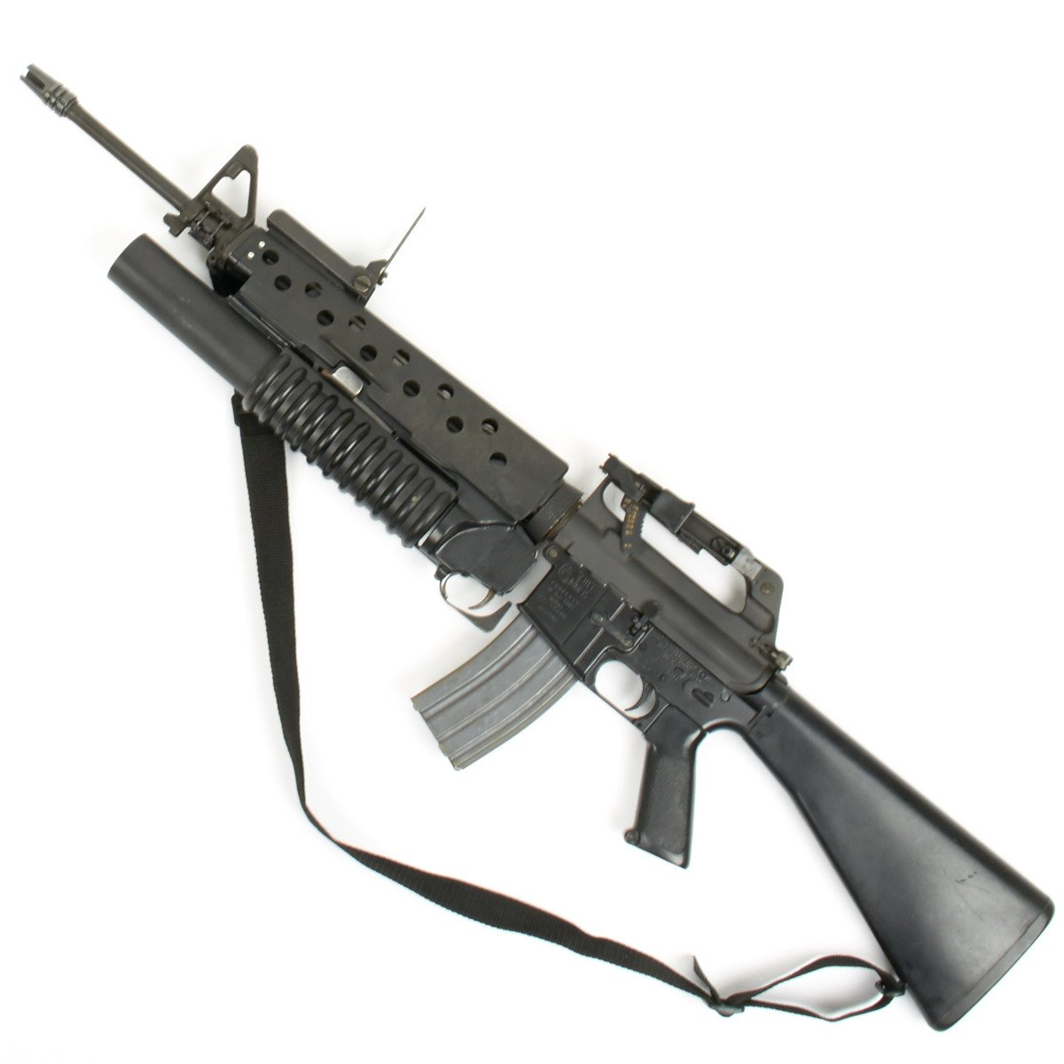 original u s vietnam war colt m16a1 display gun with m203 40mm